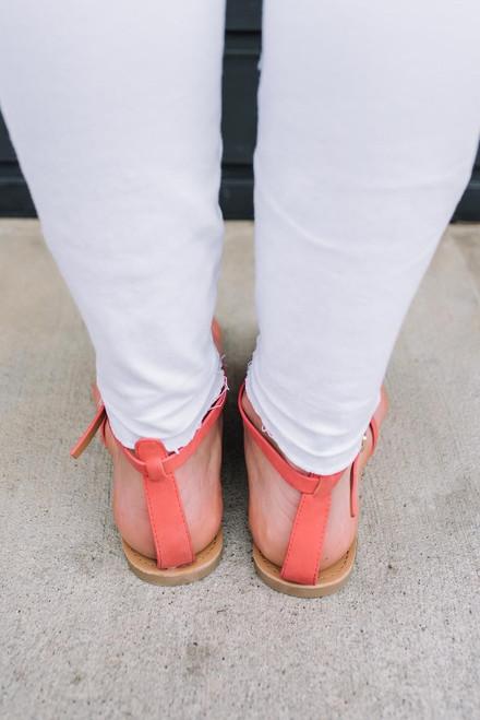 Chasing Summer Gladiator Sandals - Coral