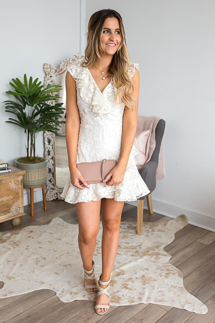 BB Dakota Harlow Embroidered Dress - Ivory - FINAL SALE