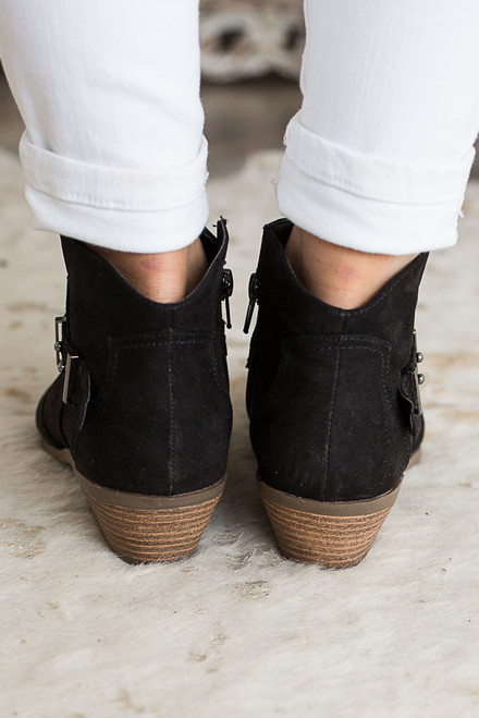 Road Less Traveled Booties - Black - FINAL SALE