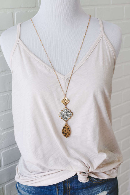 Dublin Quatrefoil Necklace Set - Gold/Silver