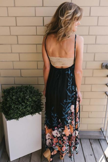 Free People Embrace It Maxi Dress - Black Combo