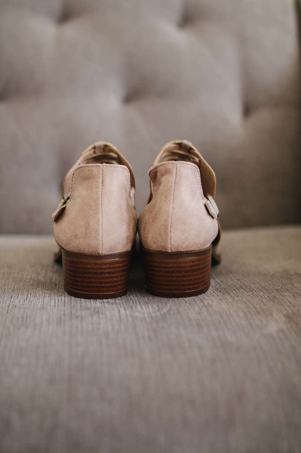 Braided Cutout Booties - Taupe