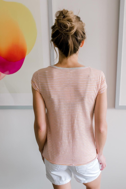 Free People Stripe Clare Tee - Pink Combo - FINAL SALE