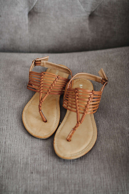 Vitamin Sea Strappy Thong Sandals - Brown