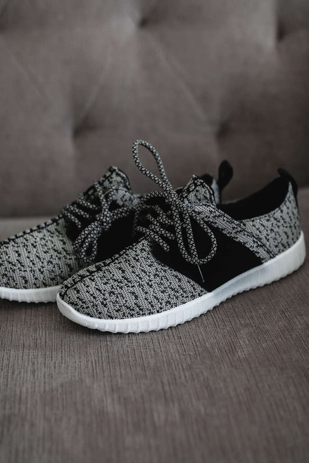 MVP Flyknit Sneakers - Grey/Black