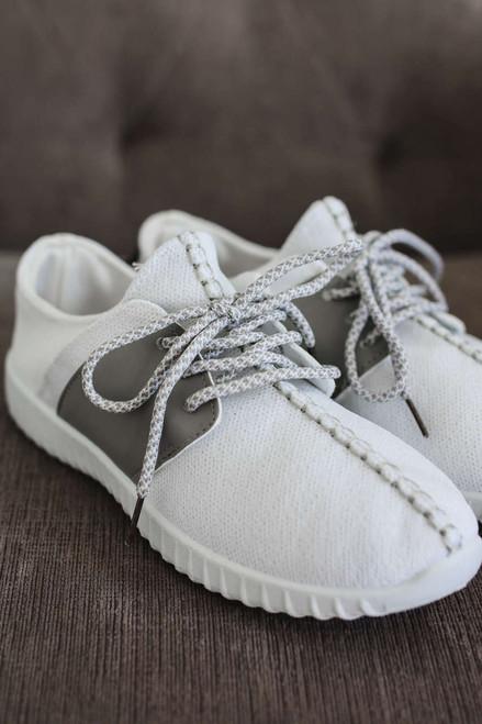 MVP Flyknit Sneakers - White/Grey