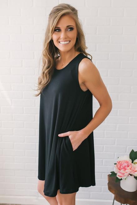 Backstage Pass Knit Dress - Black
