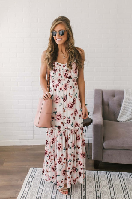 Jack by BB Dakota Kogan Maxi Dress - Off White Multi