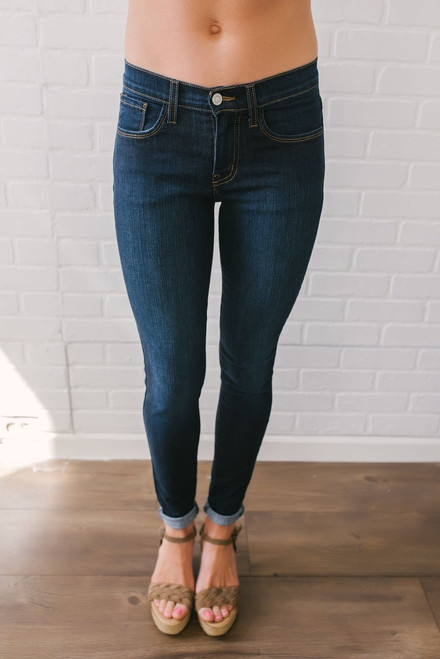 Cocoa Beach Skinny Jeans - Dark Wash