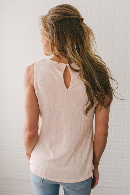 Sweet Summertime Lace Detail Tank - Light Pink