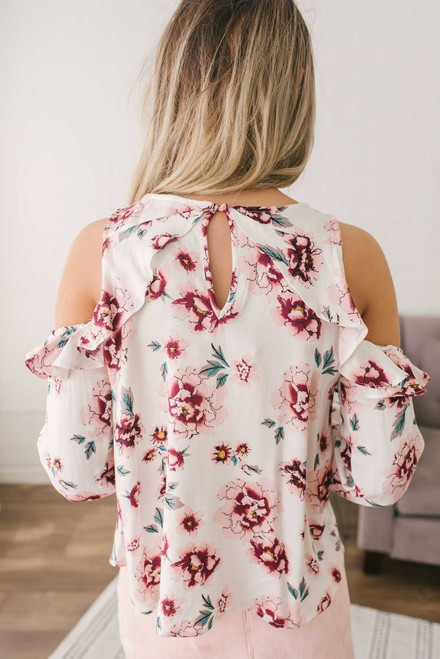 Jack by BB Dakota Eugenie Floral Top - Off White Multi