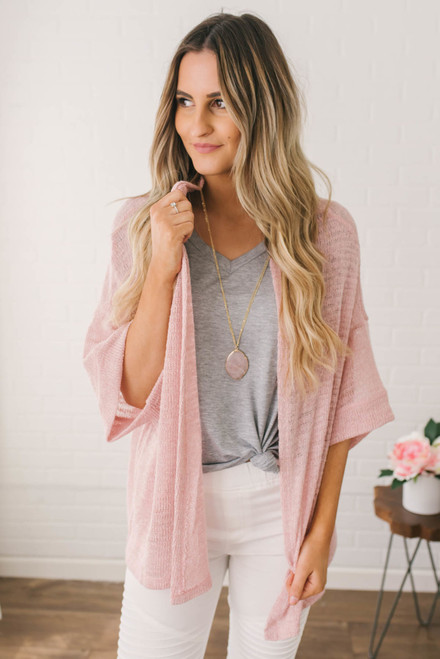 Pacific Heights Knit Cardigan - Pink