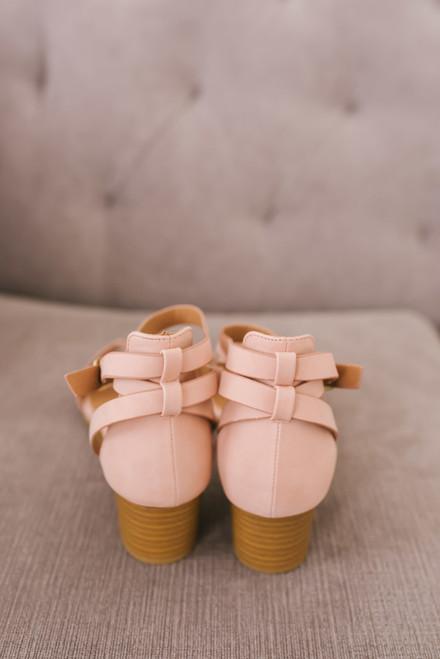 Double Strap Demi Wedges - Blush - FINAL SALE