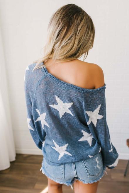 Written in the Stars Sweater - Navy