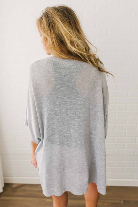 East Coast Knit Cardigan - Heather Grey