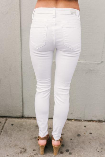 San Francisco Bay Distressed Skinny Jeans - White