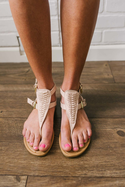 Pacific Coast Woven Sandals - Blush