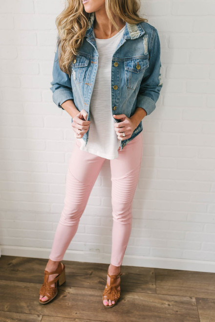 Hilton Head Island Moto Leggings - Pink