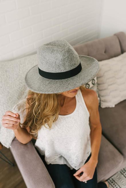 Seaside Dreams Panama Hat - Grey/Black