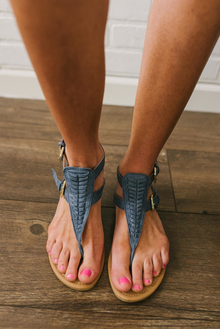 Pacific Coast Woven Sandals - Blue