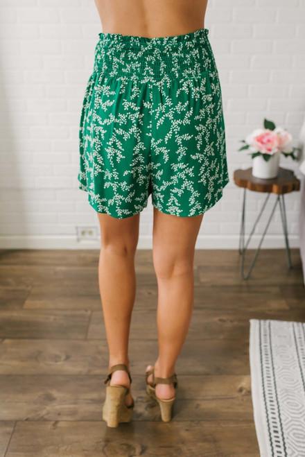 Bon Voyage Smocked Shorts - Green