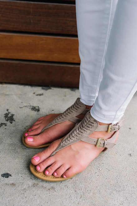 Pacific Coast Woven Sandals - Taupe
