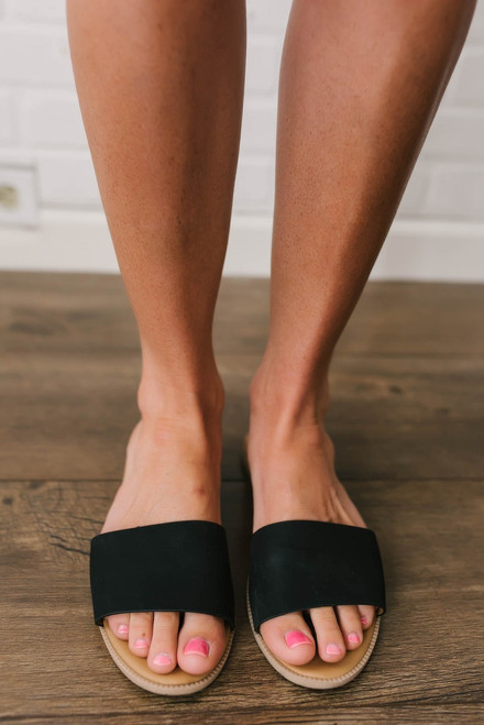 Saltwater Summer Slide Sandals - Black - FINAL SALE