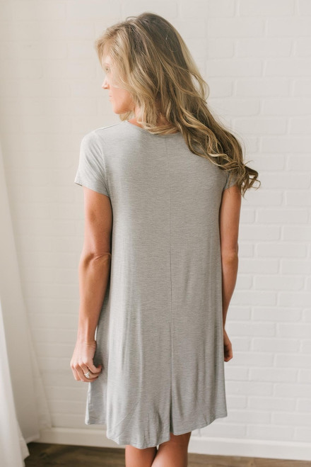 The Sweet Life T-Shirt Dress - Heather Grey