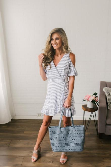 BB Dakota Fong Striped Dress - Blue/White
