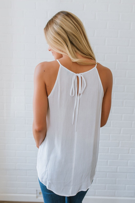 Beat the Heat Embroidered Tank - Off White Multi  - FINAL SALE