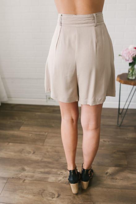BB Dakota Edmond High Waisted Shorts - Tan