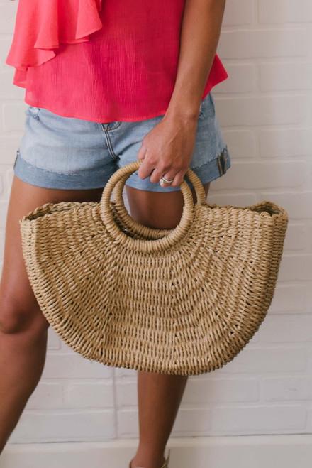 Hawaiian Islands Woven Bag - Tan