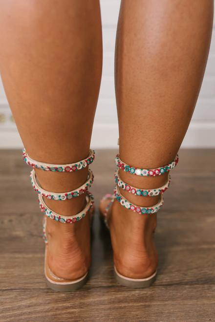 Free People Embellished Havana Sandals - Natural - FINAL SALE