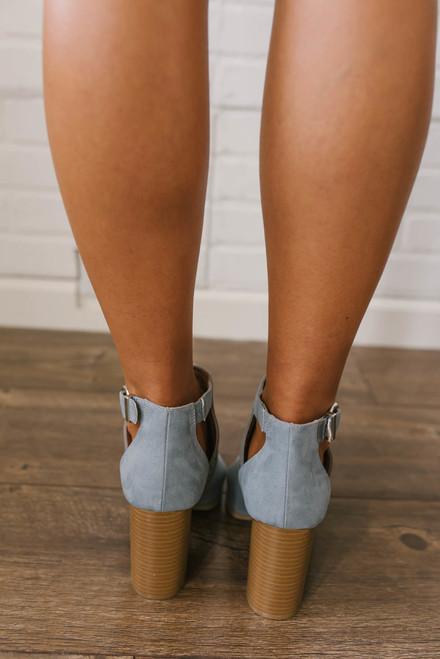 Santa Clara Peep Toe Booties - Grey
