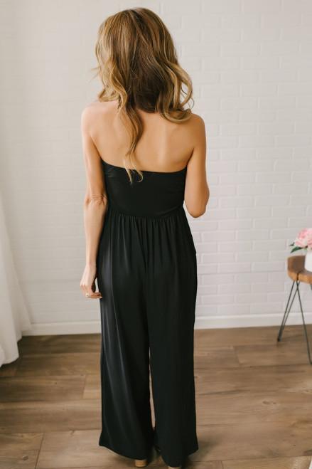 Heat Index Strapless Jumpsuit - Black