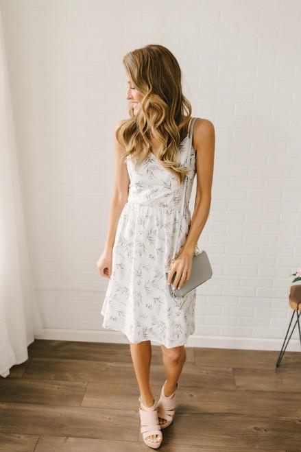 Lavender Garden Floral Dress - White Multi - FINAL SALE