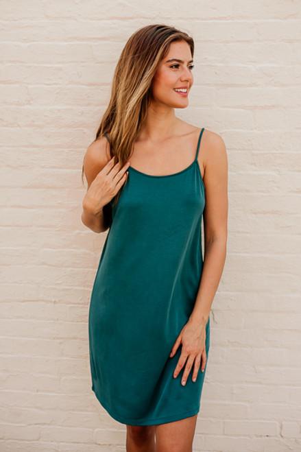 Island Breeze Solid Knit Dress - Emerald Teal - FINAL SALE
