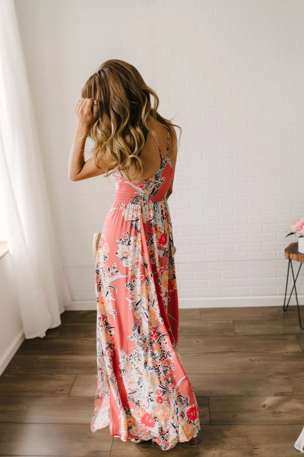 Free People Through the Vine Maxi - Red Combo