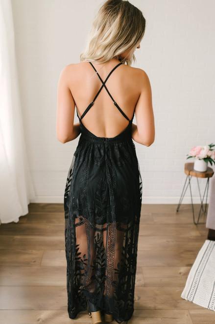 Secret Garden Lace Maxi - Black