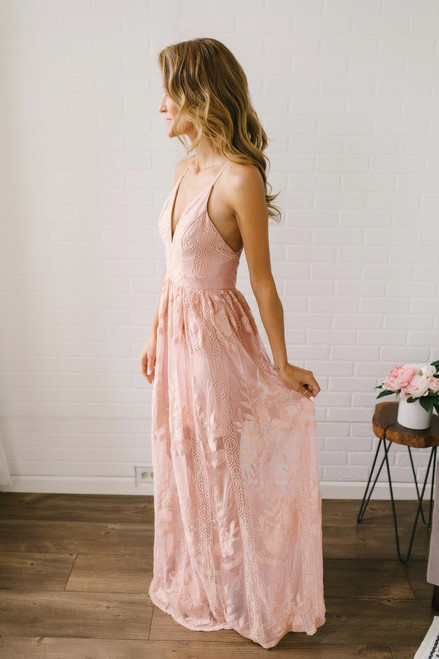 Secret Garden Lace Maxi - Blush