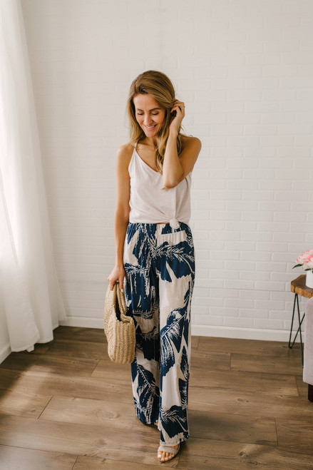 Another Day in Paradise Pants - Navy