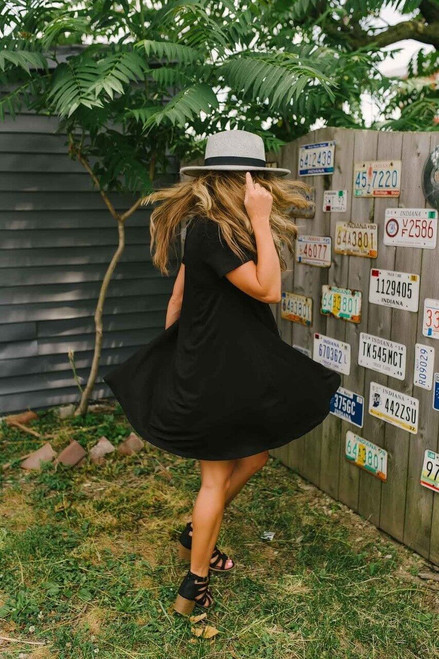 Flip Flop Summer Knit Dress - Black - FINAL SALE