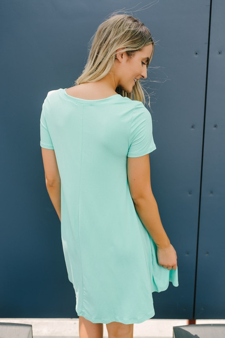 Flip Flop Summer Knit Dress - Mint