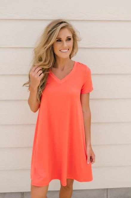 Flip Flop Summer Knit Dress - Orange - FINAL SALE