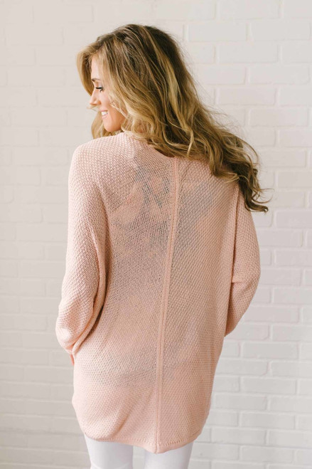 Seaside Cottage Dolman Cardigan - Peach