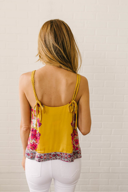 Free People Move Lightly Printed Cami - Yellow Combo
