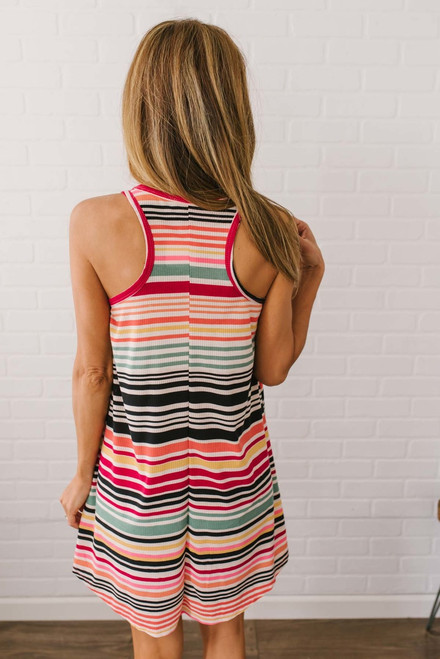 Taste the Rainbow Ribbed Knit Dress - Multi