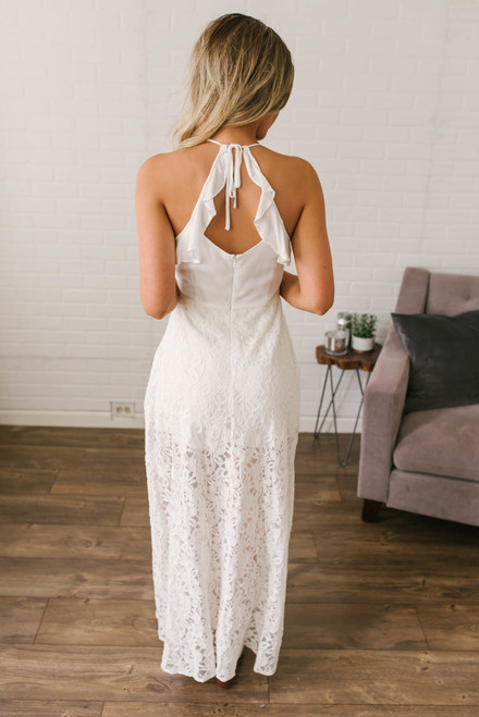 Kiss Me Goodnight Maxi Romper - Off White  - FINAL SALE