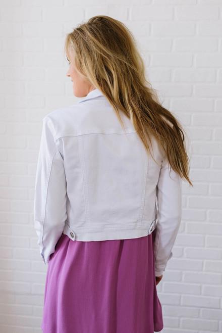 Ocean Air Denim Jacket - White
