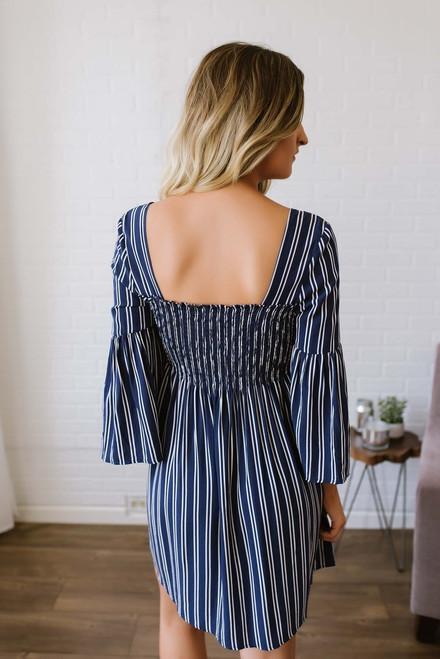 Jack by BB Dakota Call the Shots Striped Dress - Navy/White